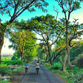Go Green by Rajesh Mondal - City,  Street & Park  Street Scenes ( mobilography )