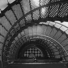 by Kathleen Preston - Abstract Patterns ( abstract, patterns, stairs, black and white, artistic, design )