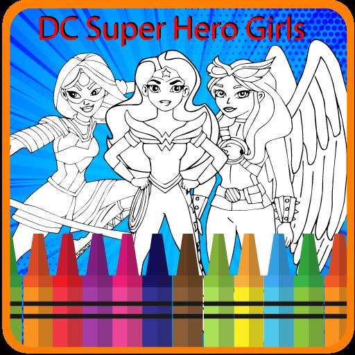 Dc Coloring Super Hero  girls (game)