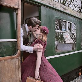 Kiss by Brian Pierce - People Couples ( rob, railway, ramona, helston, zoe )