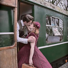 Kiss by Brian Pierce - People Couples ( rob, railway, ramona, helston, zoe,  )