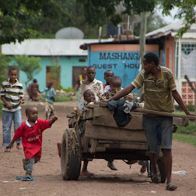 I want a ride too! by Tom Howes - Babies & Children Children Candids ( tanzania, people )