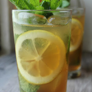 Lemon Mint Iced Tea…with Rum.