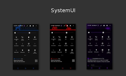 Dark Infusion Substratum Theme for N, O and Pie Screenshot