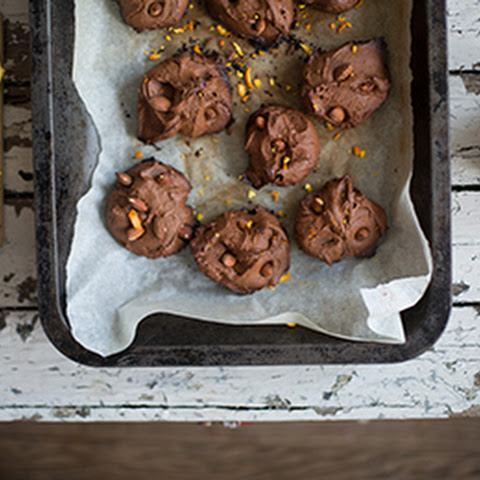 Chocolate, Orange And Almond Cookies