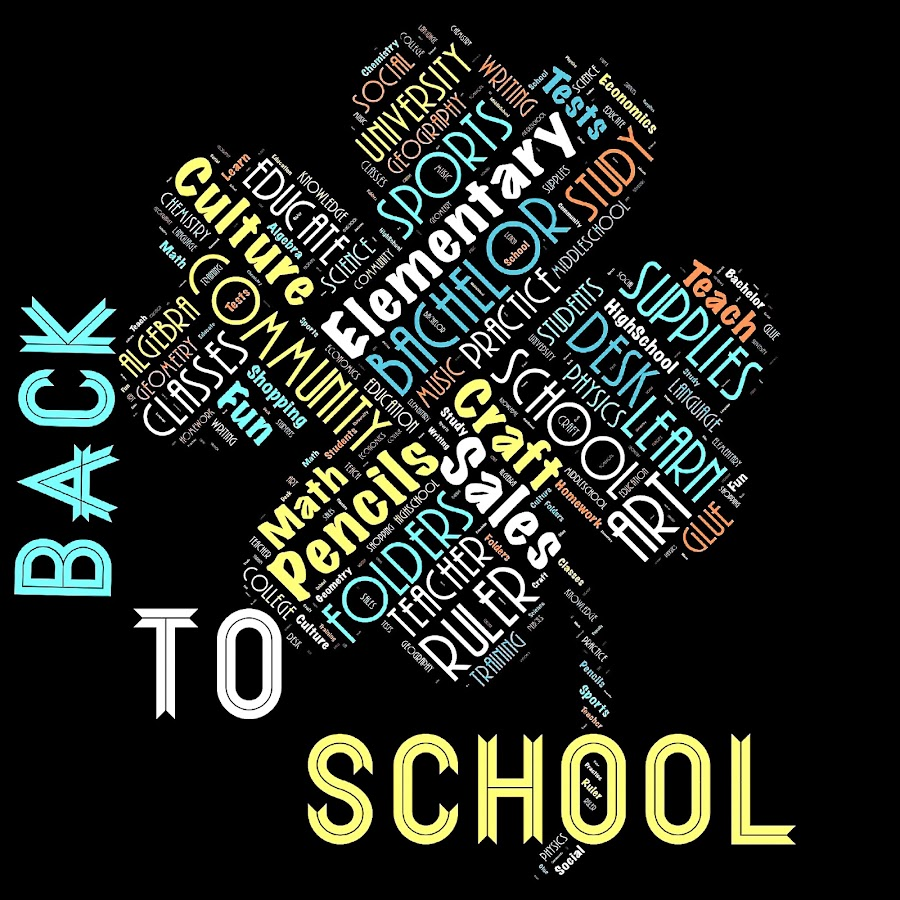 Back to school by Alesanko Rodriguez - Typography Words ( school, words, font, art, illustration, typography, words cloud, letters, design )