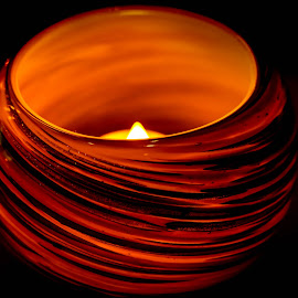 Light the Way by Phoenix Dolphin - Artistic Objects Still Life ( orange, bowl, candle, candle light, artistic object )