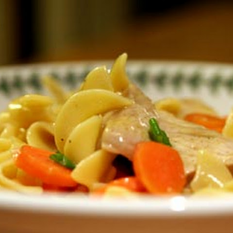 Citrus Pork with Egg Noodles