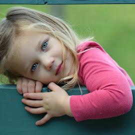 Hanging on. by Scott Cove - Babies & Children Child Portraits ( child, girl, portrait, eyes )