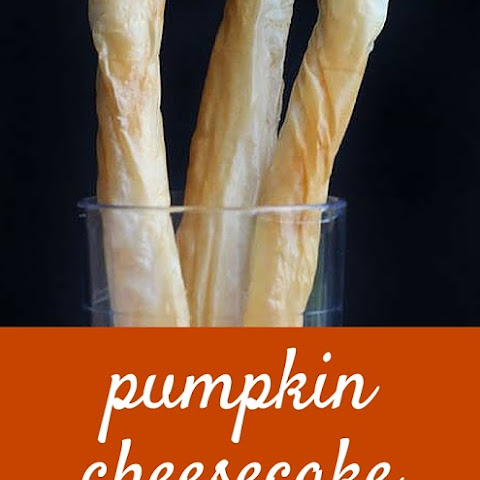 Pumpkin Cheesecake Phyllo Straws