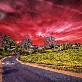 by IP Maesstro - City,  Street & Park  Neighborhoods ( fantasy, moon, hdr, ip maesstro, sunset, street, sunrise )