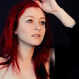 Reverie by Michaela Firešová - Nudes & Boudoir Artistic Nude ( dreaming, girl, redhead, beauty )