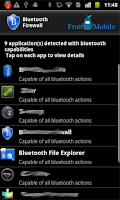 Screenshot of Bluetooth Firewall Trial