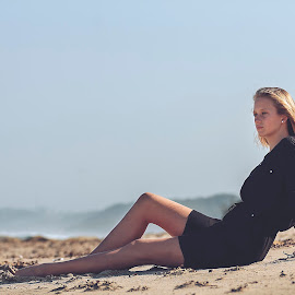 Relaxed by Phillip Prinsloo - People Fashion ( natural light, sand, model, woman, outdoors, beach, portraits, portrait )