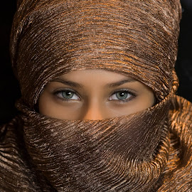 The eyes say it all. by Roger Padayao - People Portraits of Women ( woman portrait, woman, beauty, hijab, eyes, best female portraiture )
