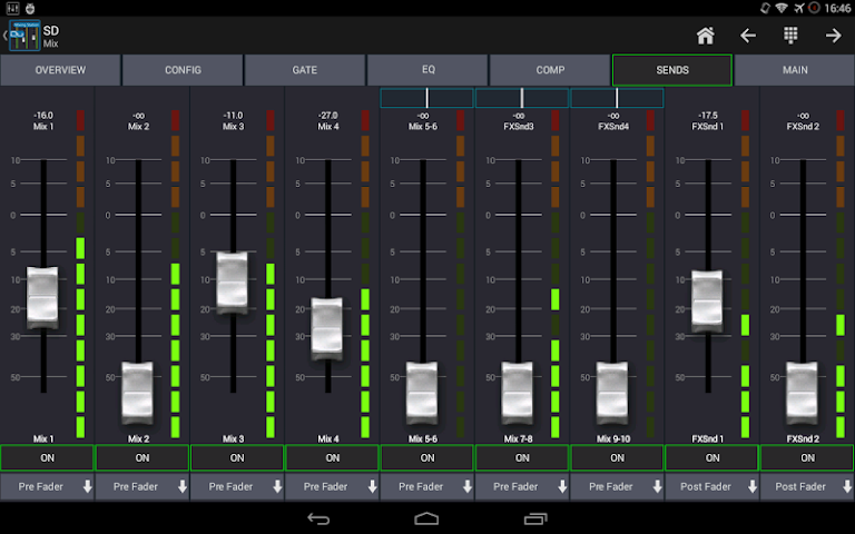android Mixing Station Qu Pro Screenshot 4