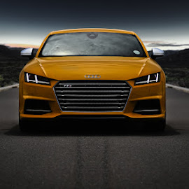Audi TTS by Elmer van Zyl - Transportation Automobiles ( car, pose, sportscar, tts, audi, auditts, cars, dramatic, yellow, capetown, fast )