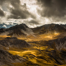 Where the milk meets the honeypot by Andreas Ebling - Landscapes Mountains & Hills ( mountains, sky, grass, switzerland, landscape, hiking )