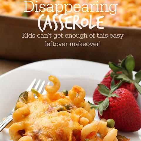 Disappearing Casserole {Leftover Makeover}