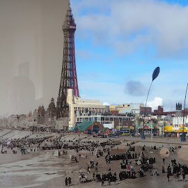 Blackpool new and old by Stephen Carr - Digital Art Places