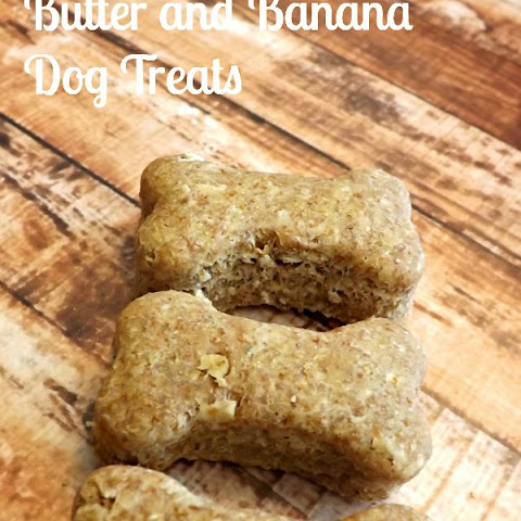 Oatmeal, Peanut Butter and Banana Dog Treats