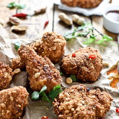 Coconut Oil Fried Peanut Chicken with Thai Honey Butter