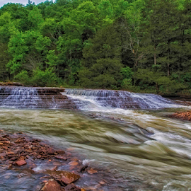 Six Finger by Michael Buffington - Landscapes Forests ( water, environment, nature, six finger, falls, cloudy, natural, arkansas )