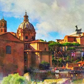 Roman Forum Image 2 by Darin Williams - Digital Art Places ( roman forum, rome, ruin, italy )