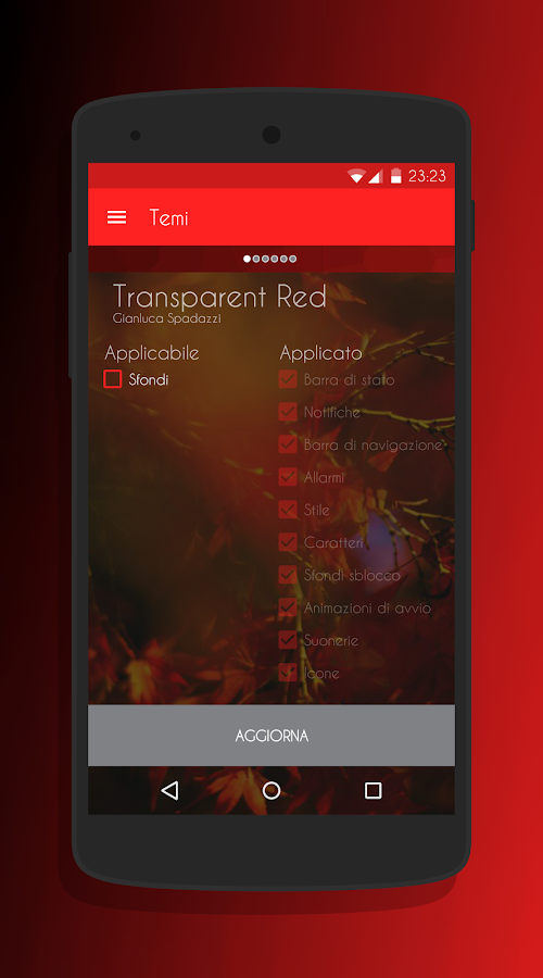 Transparent Red - CM13 Theme Screenshot 7