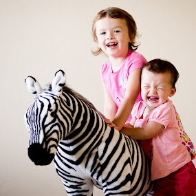 Disappointment by Janice Rimmer - Babies & Children Children Candids ( disappointment, sisters, children, zebra )