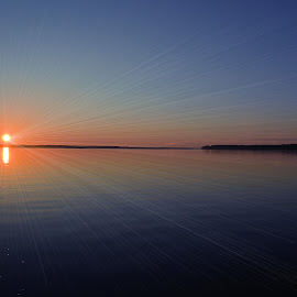 Sunrise over the Pamlico by Teresa Wooles - Digital Art Places ( sunrise )