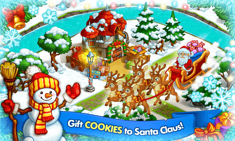Farm Snow: Happy Christmas Story With Toys & Santa Screenshot 6