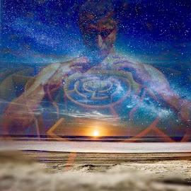 Galactic maze by Josiah Hill-meyer - Digital Art Abstract