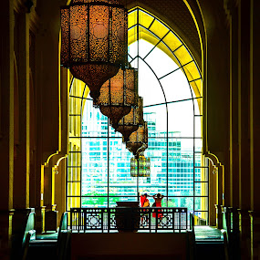 The Window of Souq Al Bahar by Adam dela Pedra - Buildings & Architecture Other Interior ( leading lines, frame, window, horizon, people )