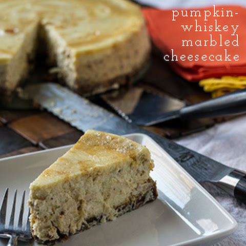 Marbled Pumpkin Cheesecake with Whiskey