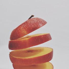 flying apple slices by Sabrina Bekeschus - Food & Drink Fruits & Vegetables ( apple, slices, slice )