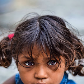 Through her eyes  by Ayush Phillip - Babies & Children Child Portraits ( nikon, travel photography, travel locations, portrait, travel, eyes, street photography )