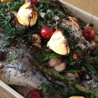 Baked Whole Sea Bream