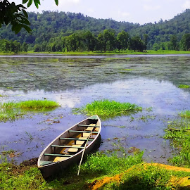 by Sudipto Hazra - Landscapes Waterscapes ( hills, wild, nature, waterbody, boats, forest )