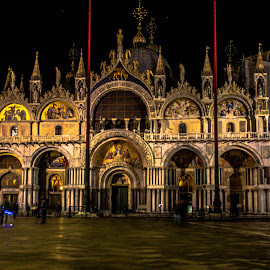 Saint Mark's Basilica by night by Hariharan Venkatakrishnan - Buildings & Architecture Public & Historical (  )