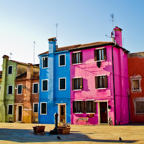 Burano by Leanne Kordis - Landscapes Travel ( venice, burano, italy )