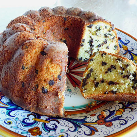 Cream Cheese Chocolate Chip Pound Cake