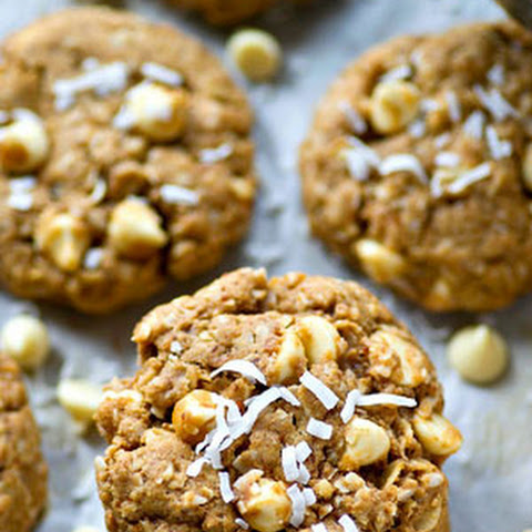 White Chocolate Coconut Oatmeal Cookies