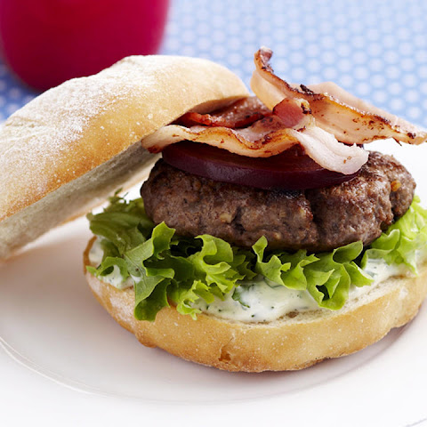 Bacon Burger with Herb Mayonnaise
