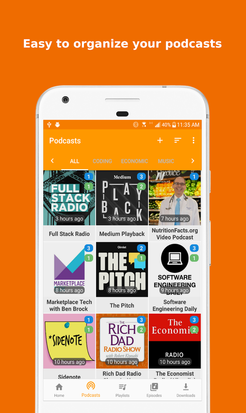 Podcast Republic - Podcasts and Radio Player App Screenshot 1