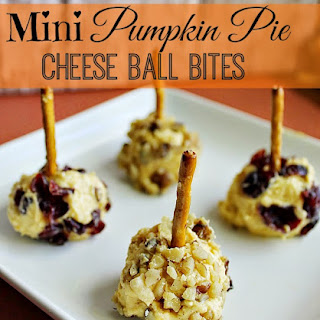 Mini Pumpkin Pie Cheese Ball Bites