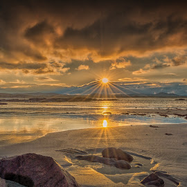 End of the day at Fanad Donegal Ireland by Eoin McCullagh - Landscapes Sunsets & Sunrises ( sunset, fanad, beach, rocks, donegal )