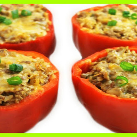 Cheeseburger Stuffed Peppers SmartPoints 8