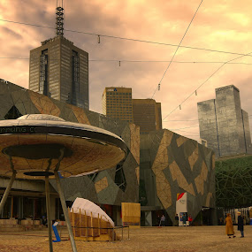 Federation Square by Scott Pirrie - Buildings & Architecture Public & Historical