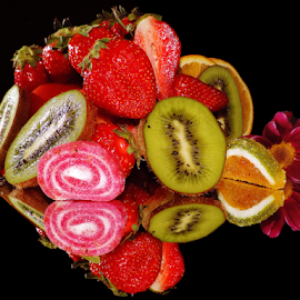 fruits,candy with flower by LADOCKi Elvira - Food & Drink Fruits & Vegetables ( candys, fruits )